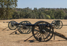 Three Union Army Cannons Stock Photos