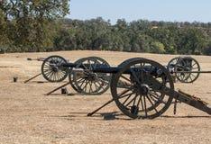 Three Union Cannon Stock Photo