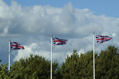 Three Union Jacks Royalty Free Stock Photo