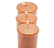 Three unique chocolate candles Stock Photo