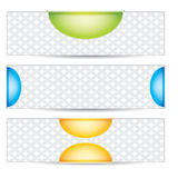 Three universal banner Stock Images