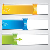Three universal banner Stock Photo