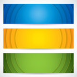 Three universal banner Stock Photo