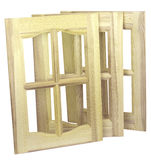 Three unpainted furniture doors Royalty Free Stock Image