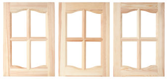 Three unpainted furniture doors Royalty Free Stock Photos