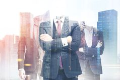Business team in a city Stock Photo