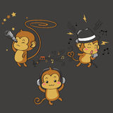 The Three Unwise Monkeys. This design was inspired by the three wise monkeys, and is what I pictured the unwise monkeys would be Stock Image