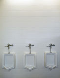 Three urinals Royalty Free Stock Photography