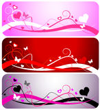 Three Valentine Backgrounds Royalty Free Stock Photos