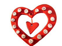 Three Valentine hearts stock images
