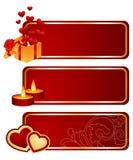 Three valentine's tablets Stock Photography