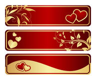 Three valentine's tablets Stock Image