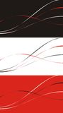 Three variants. Of a background with a pattern in the form of curves of black, red and white color Royalty Free Stock Images