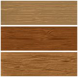 Three variants of wooden texture Stock Image