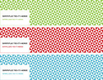 Set of three various banner designs Royalty Free Stock Photos