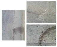 Three various images of gray stained asphalt Stock Photo