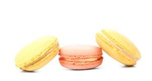 Three various macarons. Stock Images