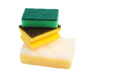 Three various sponges for washing Stock Images