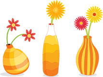 Three Vases stock illustration