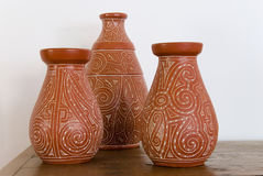 Three Vases Royalty Free Stock Photo