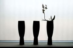 Three vases Stock Photo
