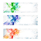 Three vector abstract banner royalty free illustration