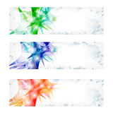 Three vector abstract banner Royalty Free Stock Image