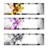 Three vector abstract banner Royalty Free Stock Photo