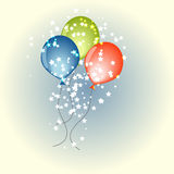 Three vector balloons Stock Photos