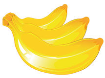 Three vector banana Stock Photos
