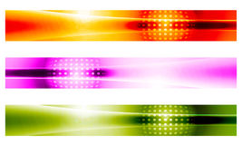 Three vector banner Stock Photo