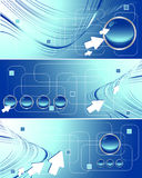Three vector banners Royalty Free Stock Photos
