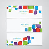 Three vector banners in retro design. Much space for your text o Royalty Free Stock Photos