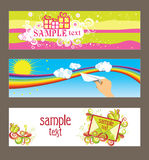 Three vector cards Royalty Free Stock Photography