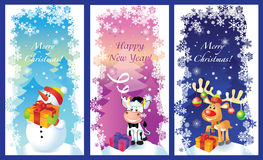 Three vector Christmas cards Royalty Free Stock Photo
