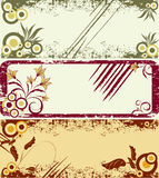 Three vector grungy templates Royalty Free Stock Photo
