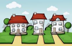 Three vector house Stock Image