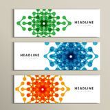 Three vector pattern abstract in banner design Stock Images