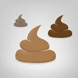 Three vector poops illustration Stock Photos