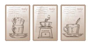 Three vector postcards Stock Image