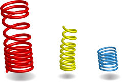 Three Vector Springs Stock Photo