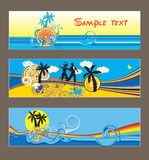 Three vector tropical cards Stock Images