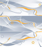 Three vector wavy backdrops Royalty Free Stock Photos