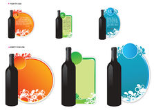 Three Vector Wine Offer Royalty Free Stock Images