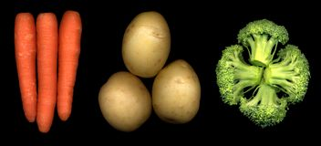 Three veg Stock Photos