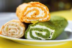 Three vegetable roll. Stock Photo