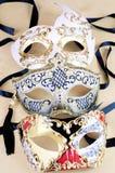 Three venezian masks isolated Royalty Free Stock Photo