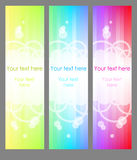 Three vertical banner Royalty Free Stock Image