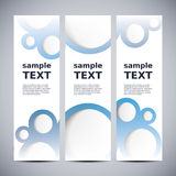 Three vertical banners Stock Photography