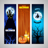 Three vertical Halloween banners Royalty Free Stock Image